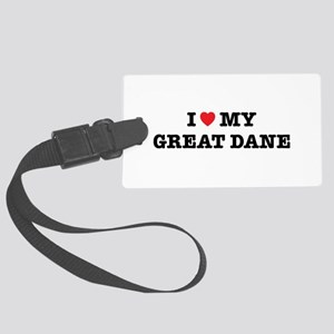 I Heart My Great Dane Large Luggage Tag