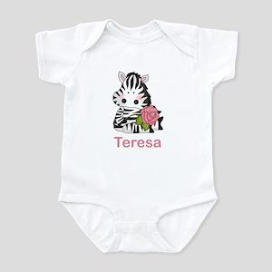 Teresa's Zebra Rose Infant Bodysuit