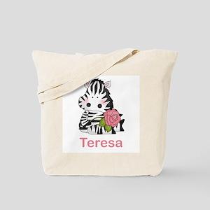 Teresa's Zebra Rose Tote Bag