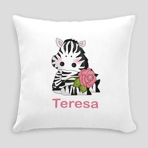 Teresa's Zebra Rose Everyday Pillow