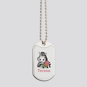 Teresa's Zebra Rose Dog Tags