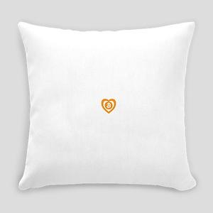 Bitcoin Heart Logo Symbol Everyday Pillow