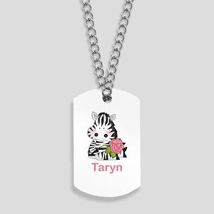Taryn's Zebra Rose Dog Tags