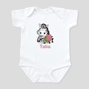 Taryn's Zebra Rose Infant Bodysuit
