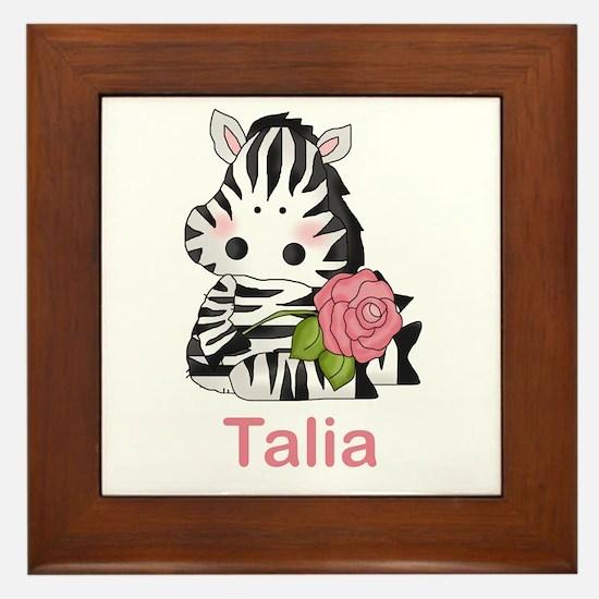 Taryn's Zebra Rose Framed Tile