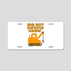 BIG BOY CONSTRUCTION CREW Aluminum License Plate
