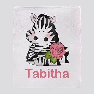 Tabitha's Zebra Rose Throw Blanket