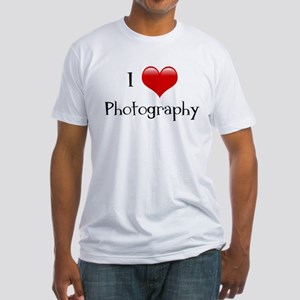 I Love Photography Fitted T-Shirt