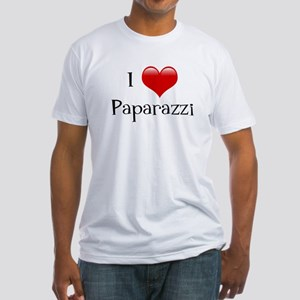 I Love Paparazzi Fitted T-Shirt