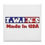 Twins Made in USA Tile Coaster