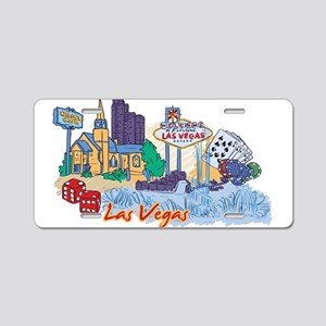 Las Vegas Icons Aluminum License Plate