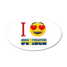 I love Sweden Wall Decal