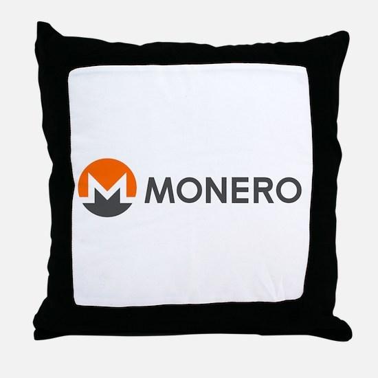 Monero Logo Symbol Design Icon Throw Pillow
