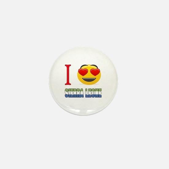 I love Sierra Leone Mini Button