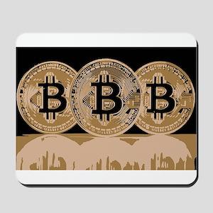 Bitcoin Logo Symbol Design Icon Mousepad