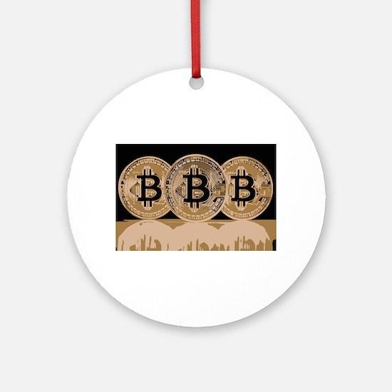 Bitcoin Logo Symbol Design Icon Round Ornament