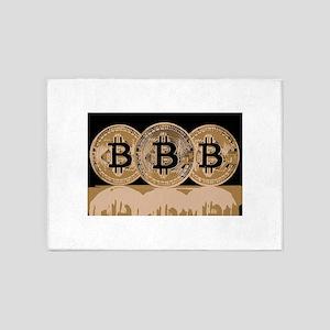 Bitcoin Logo Symbol Design Icon 5'x7'Area Rug