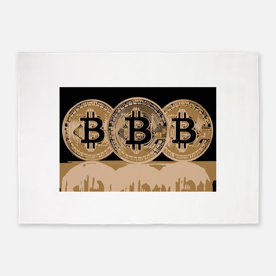 Bitcoin Logo Symbol Design Icon 5'x7'Area Rug
