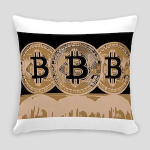 Bitcoin Logo Symbol Design Icon Everyday Pillow