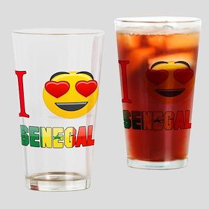 I love Senegal Drinking Glass