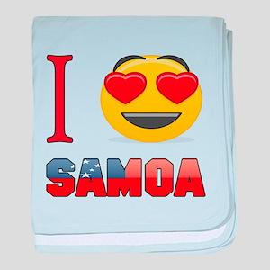 I love Samoa baby blanket