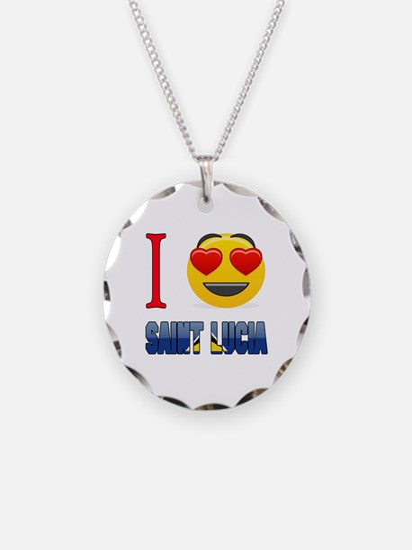 I love Saint Lucia Necklace