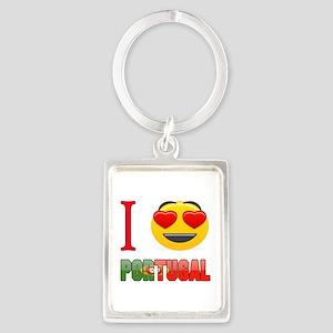 I love Portugal Portrait Keychain