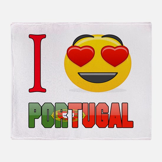 I love Portugal Throw Blanket