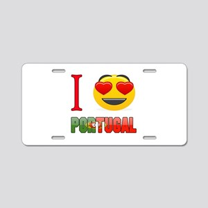 I love Portugal Aluminum License Plate