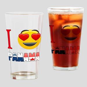 I love Panama Drinking Glass
