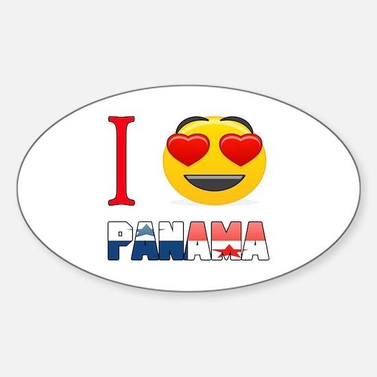 I love Panama Sticker (Oval)