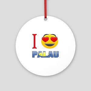 I love Palau Round Ornament