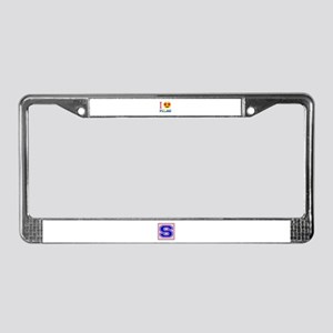 I love Palau License Plate Frame