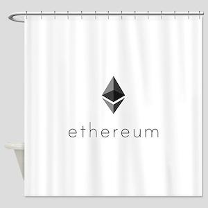 Ethereum Logo Symbol Design Icon Shower Curtain