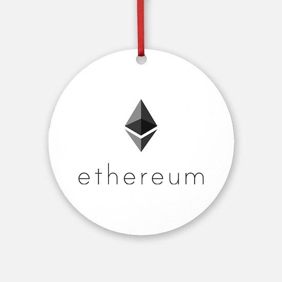 Ethereum Logo Symbol Design Icon Round Ornament