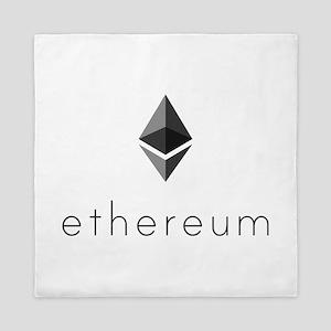 Ethereum Logo Symbol Design Icon Queen Duvet