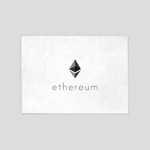 Ethereum Logo Symbol Design Icon 5'x7'Area Rug