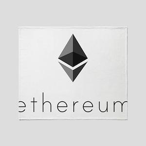 Ethereum Logo Symbol Design Icon Throw Blanket