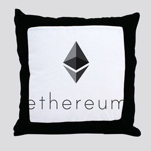 Ethereum Logo Symbol Design Icon Throw Pillow