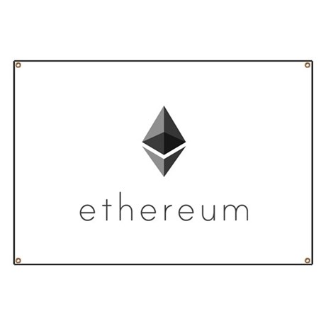 Ethereum Logo Symbol Design Icon Banner by ADMIN_CP14116287