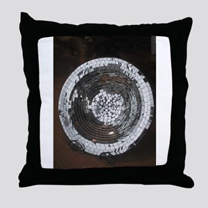 silvery plate Throw Pillow
