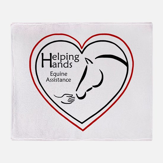 Helping Hands Equine Assistance Throw Blanket