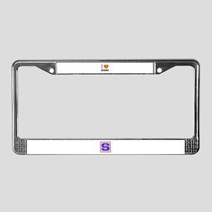 I love Nauru License Plate Frame