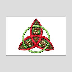 Celtic Holiday Knot Mini Poster Print