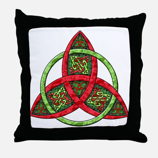 Celtic Holiday Knot Throw Pillow
