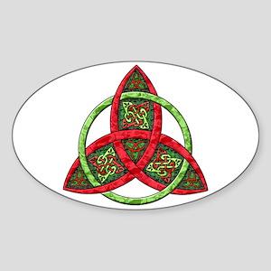 Celtic Holiday Knot Oval Sticker