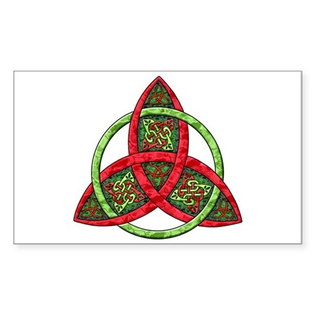 Celtic Holiday Knot Rectangle Sticker