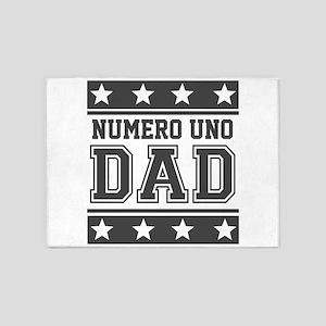 Numero Uno Dad 5'x7'Area Rug