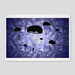 Harvest Moon's Paratroopers 5'x7'Area Rug