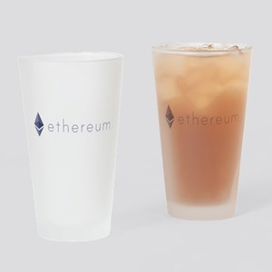 Ethereum Logo Symbol Design Icon Drinking Glass